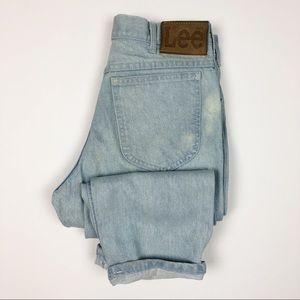 Vintage Lee High Rise Distressed Jeans